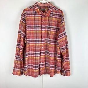 Tommy Bahama plaid long sleeves shirt XL